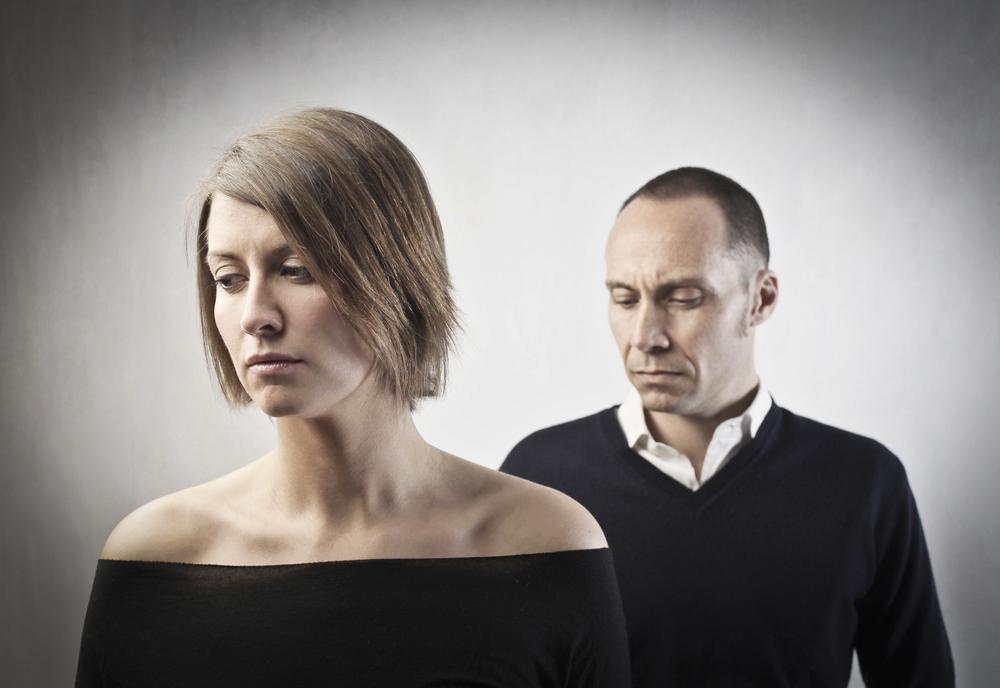 Pensive couple