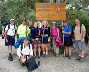 Loook at all these happy faces....a backpack trip I led on Cumberland Island